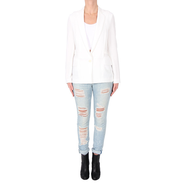 10 Crosby by Derek Lam Blazer with Organdy Back