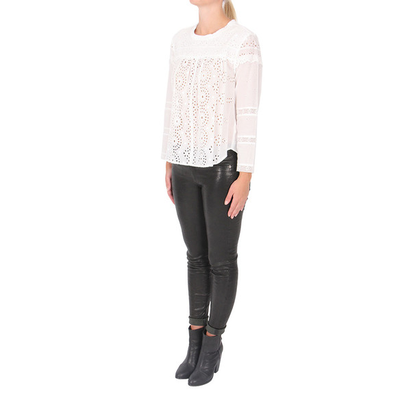 Sea Eyelet Long Sleeve Top