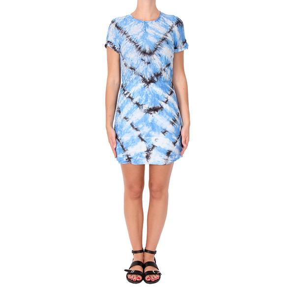 Raquel Allegra Silk and Cotton Voile Tee Dress