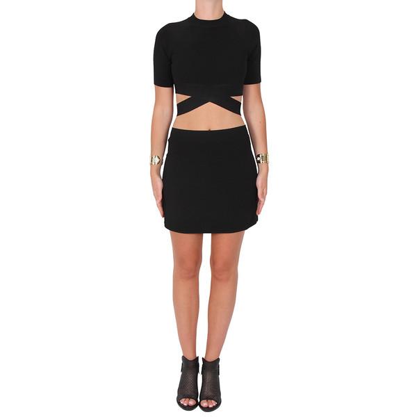 T by Alexander Wang Black Mini Skirt