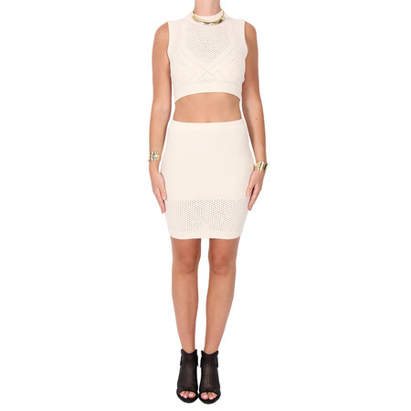 T by Alexander Wang Intarsia Knit Crop Top