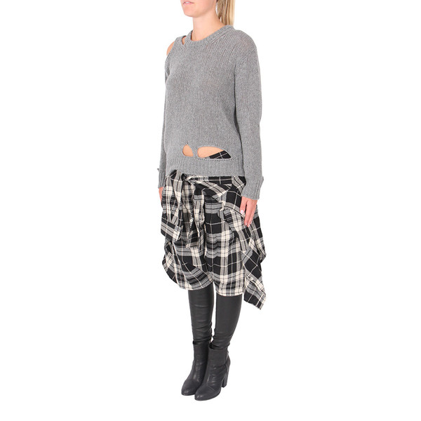R13 Vedder Pants in Plaid and Leather