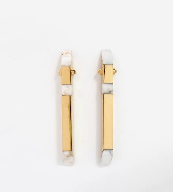 Luz Ortiz Nova Howlite Earrings