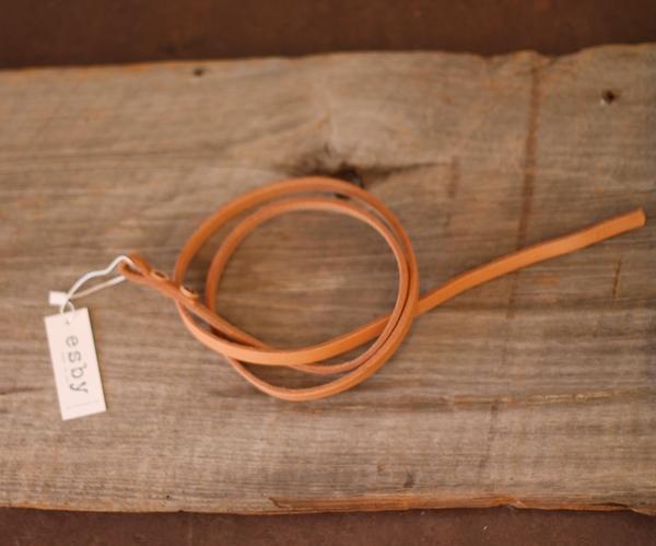 CANOE + Esby Leather Wrap Belt