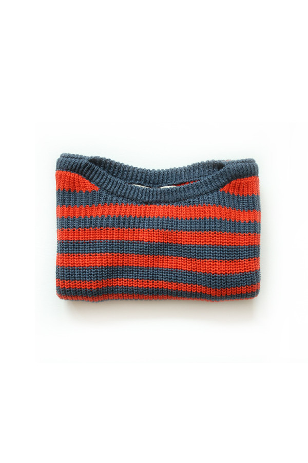 Kids' Micaela Greg Navy Striped Pullover