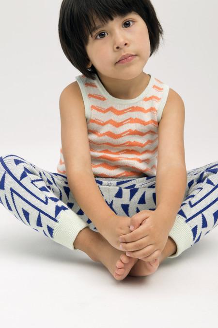 Kids' Micaela Greg Ultramarine Blue Zig Zag Sweatpant