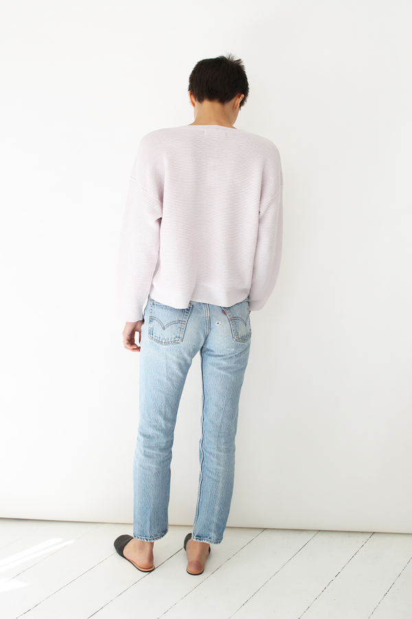 MICAELA GREG  ripple sweater pearl pink