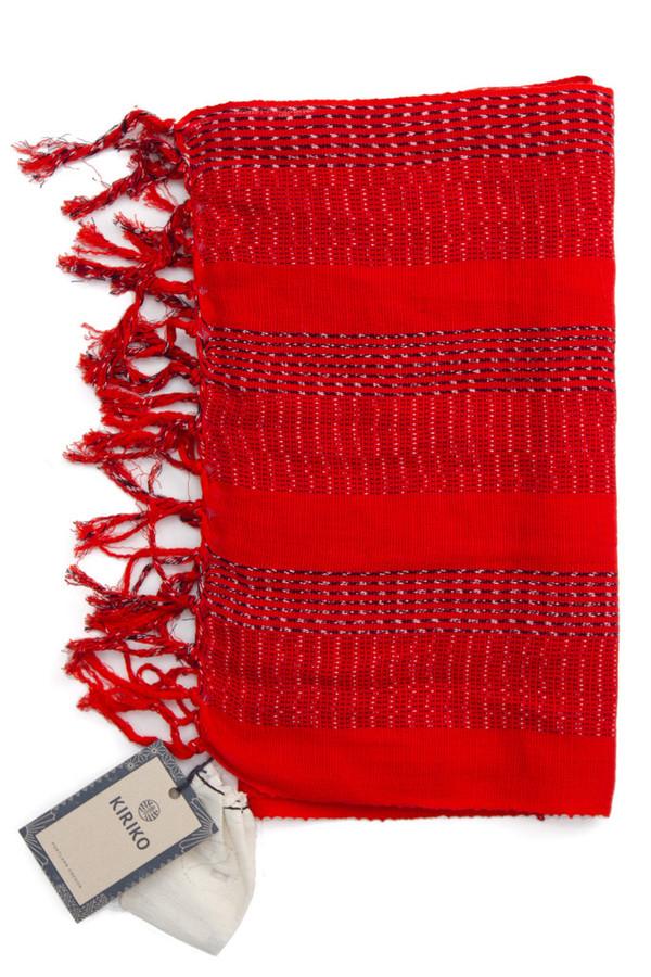 Kiriko Karu Ori Split Red Dash Scarf