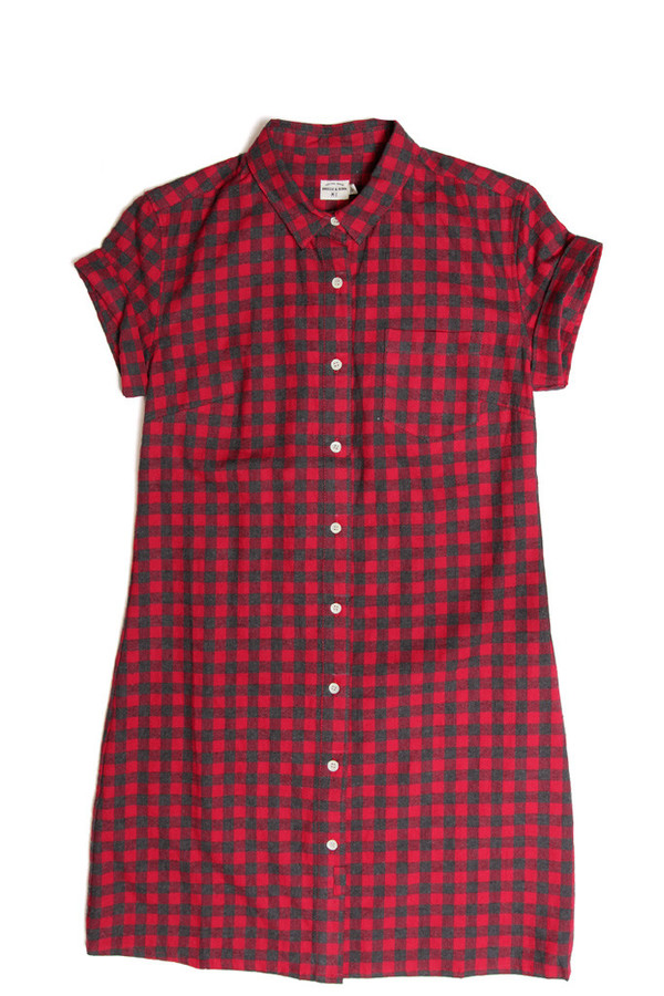 Bridge & Burn Loren Red Gingham Dress