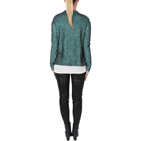 T By Alexander Wang PLAITED CARDIGAN PULLOVER - GLASS