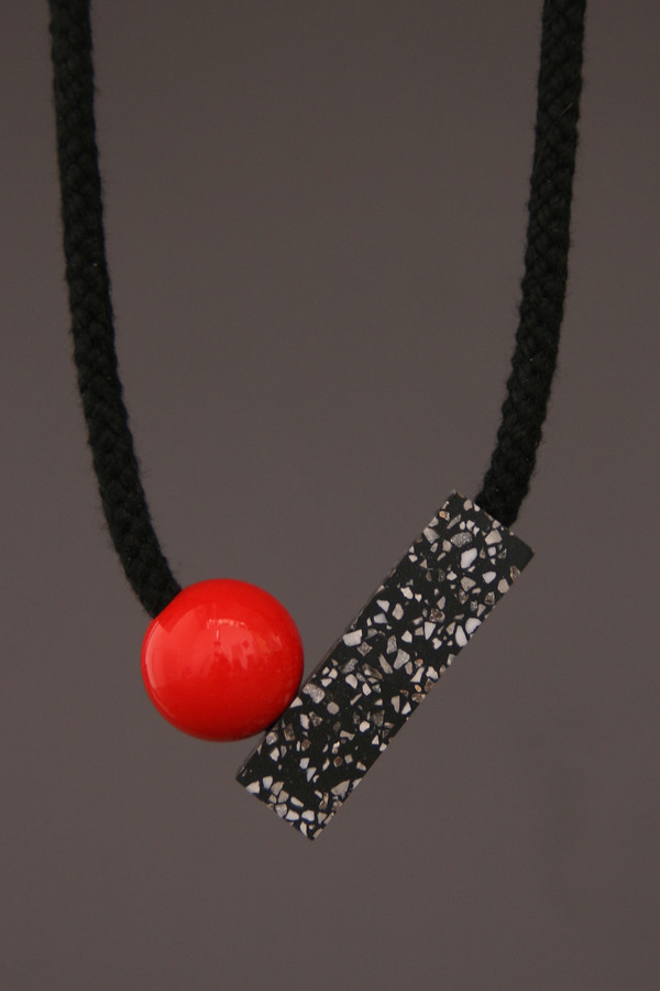 One We Made Earlier Ad Necklace Red