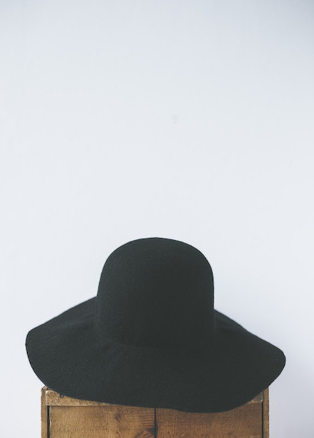 Brookes Boswell Millinery Newell in Black Wool Felt