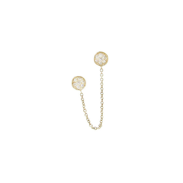 SYDNEY EVAN BABY DISC EARRING WITH CHAIN