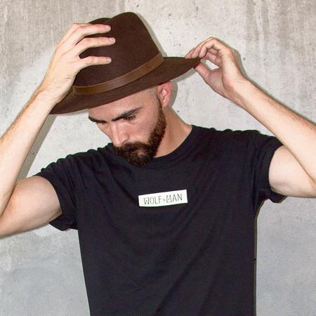 Men's Wolf & Man  Moon Phase T shirt
