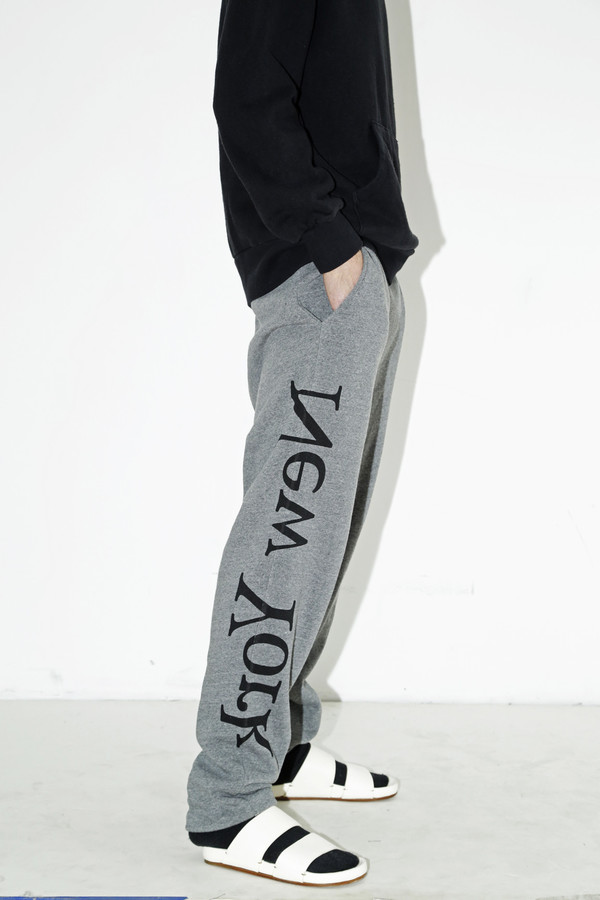 Unisex Assembly Gray Logo Sweat Pant