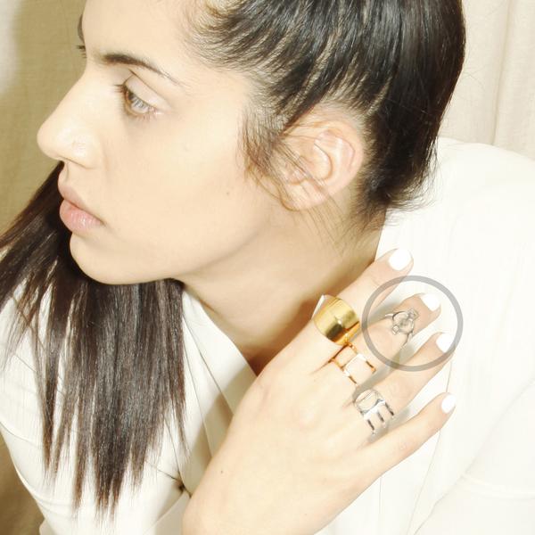 Alynne Lavigne Deco Ring in sterling silver