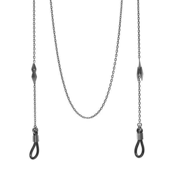 Maria Black Black Ziggy Sunglass Necklace