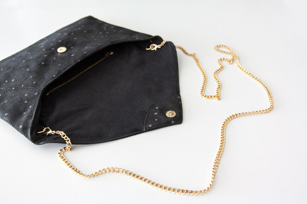 Lee Coren: Confetti Envelope Clutch & Strap