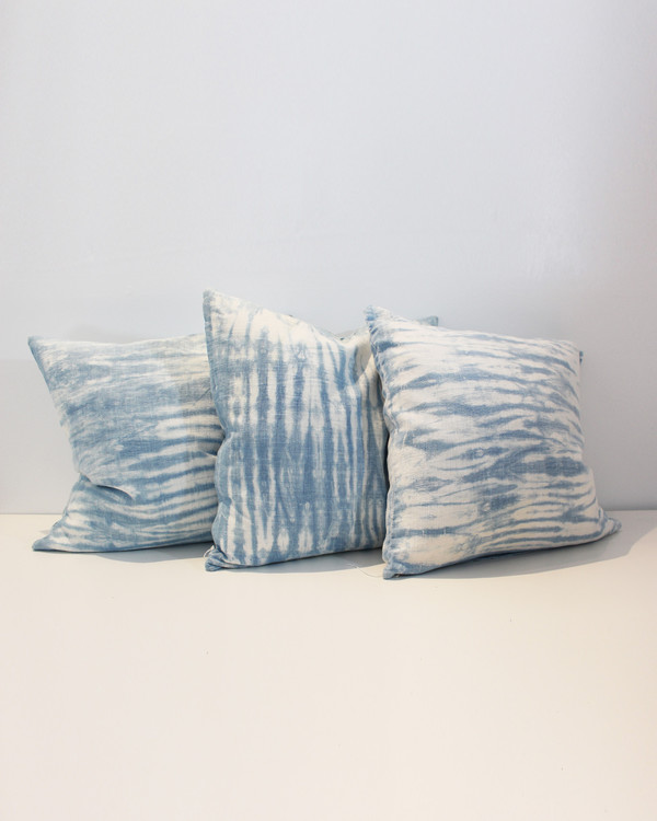 ESBY X FEELINGROOVY PILLOWS - INDIGO/WHITE