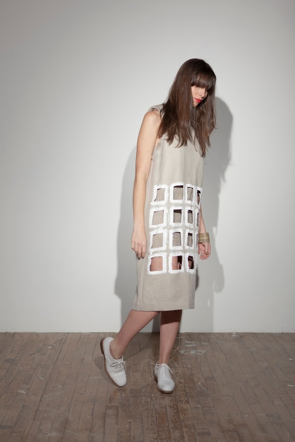nancystellasoto Cutout Hemp Tank Dress