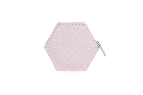 Nº31 Hexa Wallet Chequered in Desert Rose