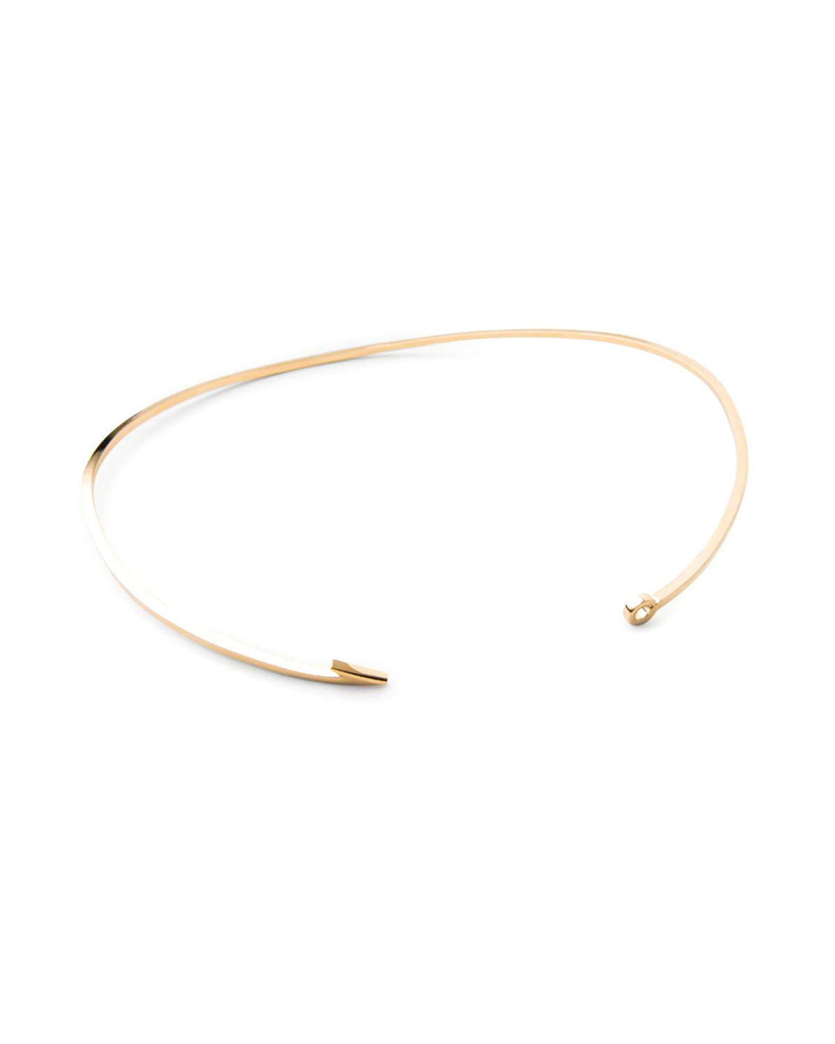 Miansai thin gold fish hook necklace from saint cloud for Gold fish hook pendant