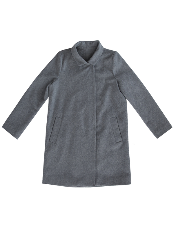 ALI GOLDEN WOOL COAT - GREY
