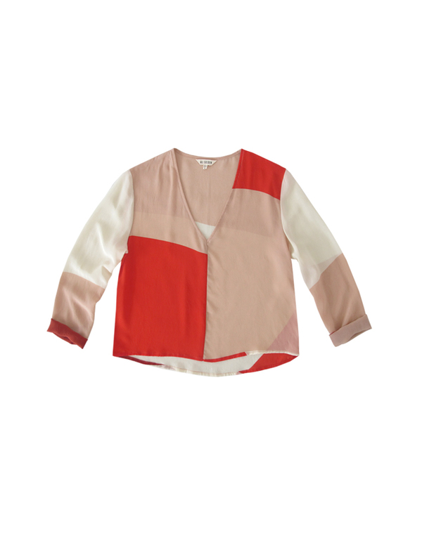 ALI GOLDEN LONG SLEEVE TOP - REDS