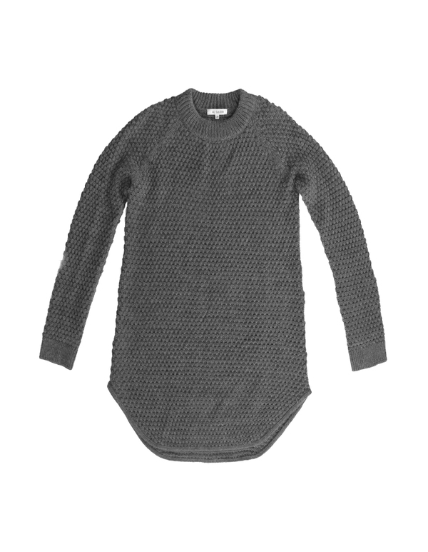 ALI GOLDEN SWEATER DRESS - GREY