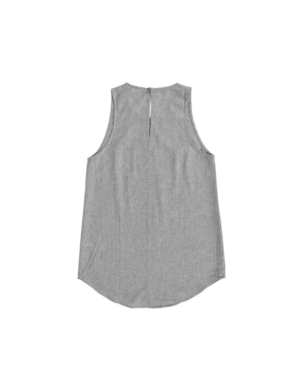 ALI GOLDEN SCOOP NECK TANK - OATMEAL