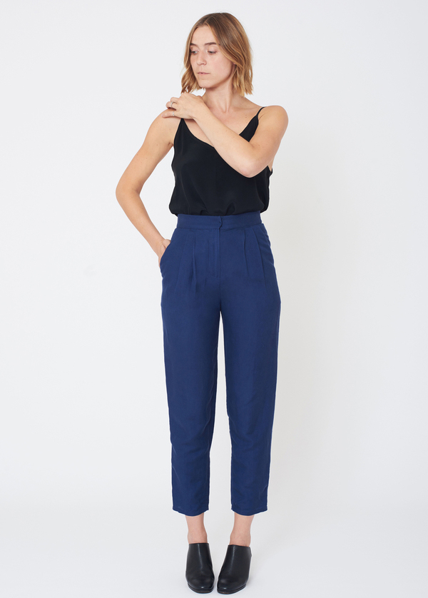 First Rite HIGH RISE TROUSER - LAPIS