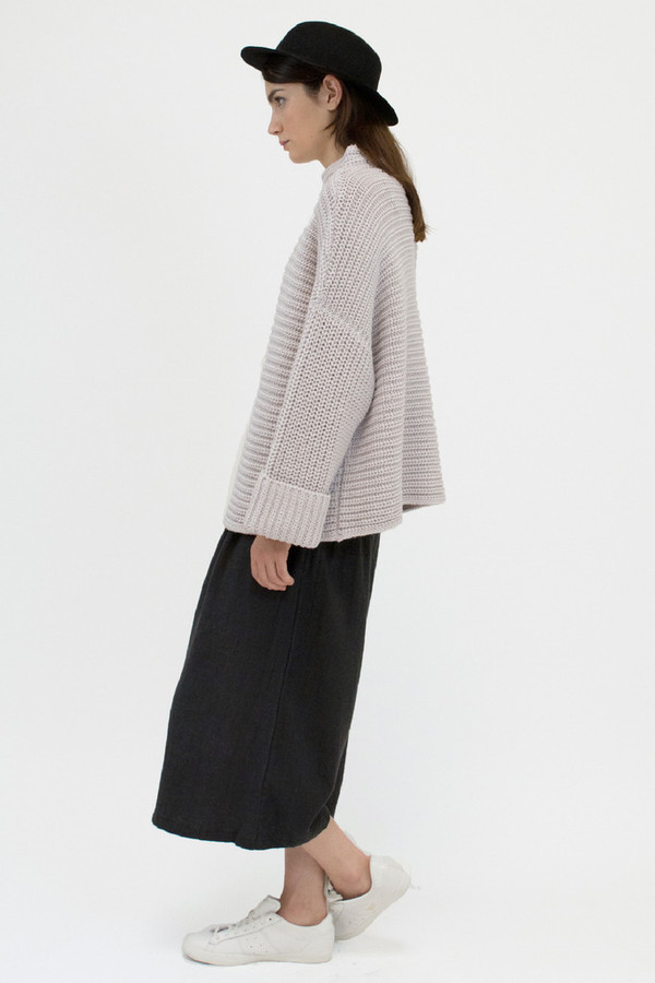 Micaela Greg PARALLEL SWEATER - PALE GREY