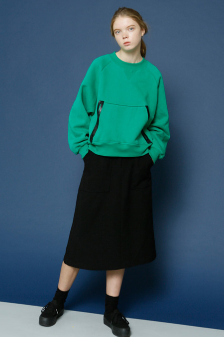 ROCKET X LUNCH A Line Midi Skirt