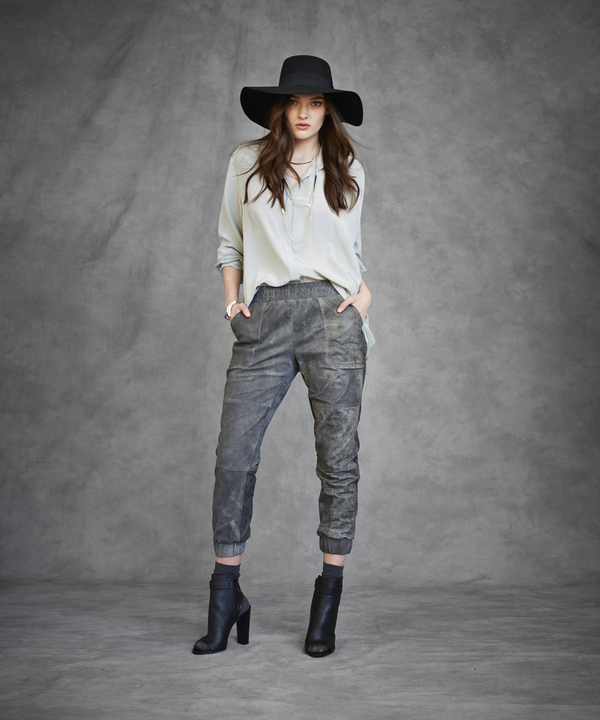 Laura Siegel Leather Sweatpants