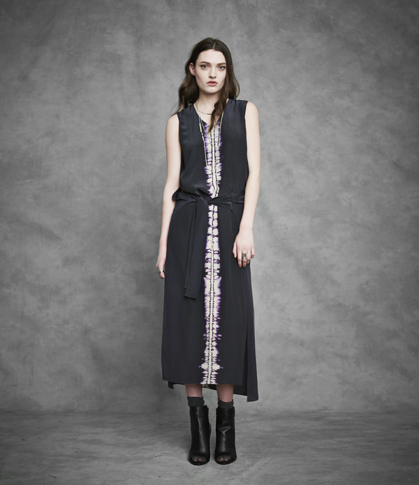 Laura Siegel Shibori Dyed Long Wrap Dress