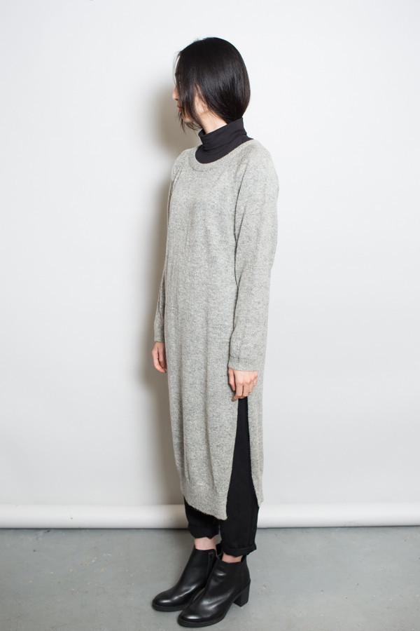 Achro Side Slit Sweater Dress