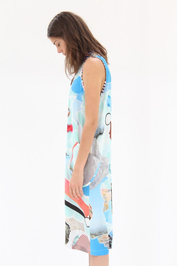Hui Hui Polo Dress Silk Pool Print