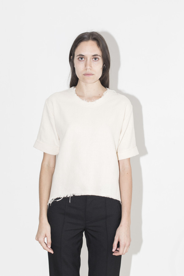 Black Crane Cream Wide Top