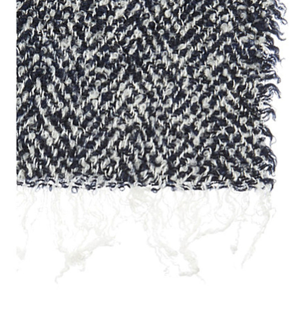 destin Navy and White Karly Stola Scarf