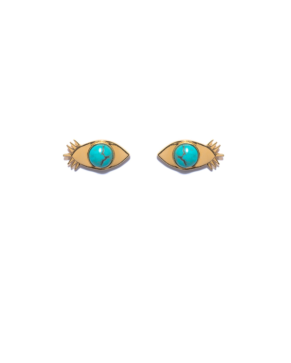 Lizzie Fortunato Evil Eye Stud Earrings