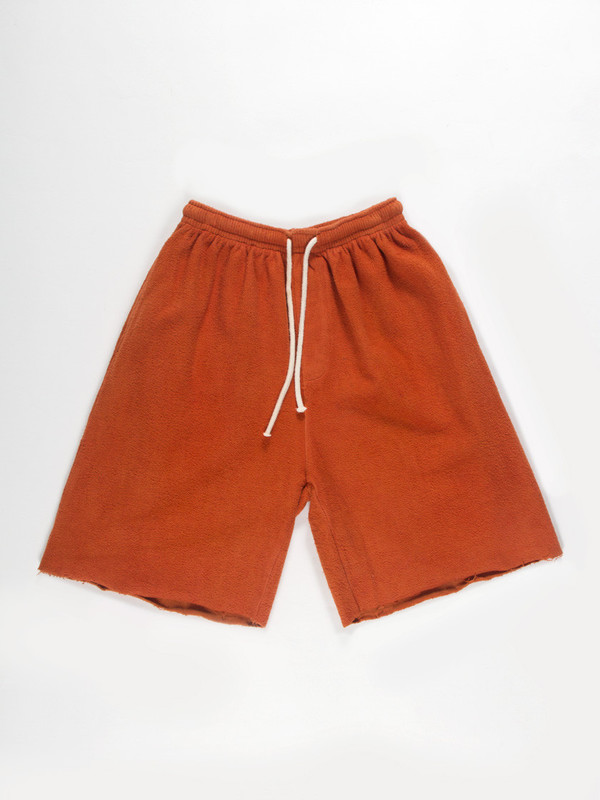 Men's Industry of All Nations Reversed Fleece Shorts Orange