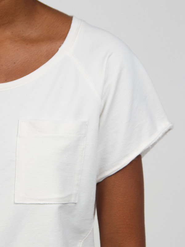Skin Sweatshirt Tee Hemp White