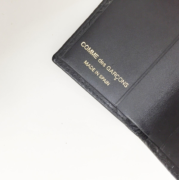 Comme des Garcons - Black Embossed Star Card Case