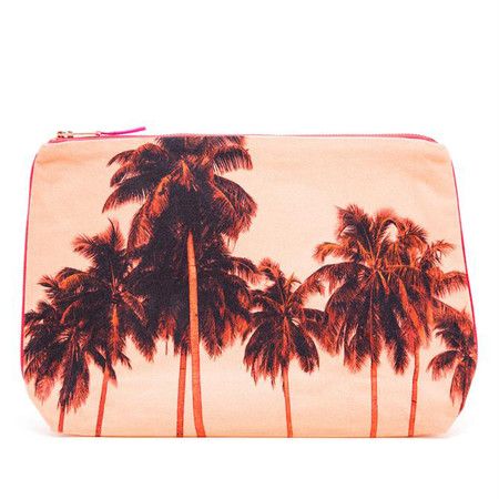 Dezso by Sara Beltran FLAMINGO PALMS CANVAS POUCH