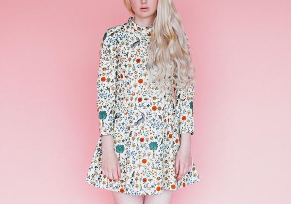 Samantha Pleet Passion Dress in Illuminated