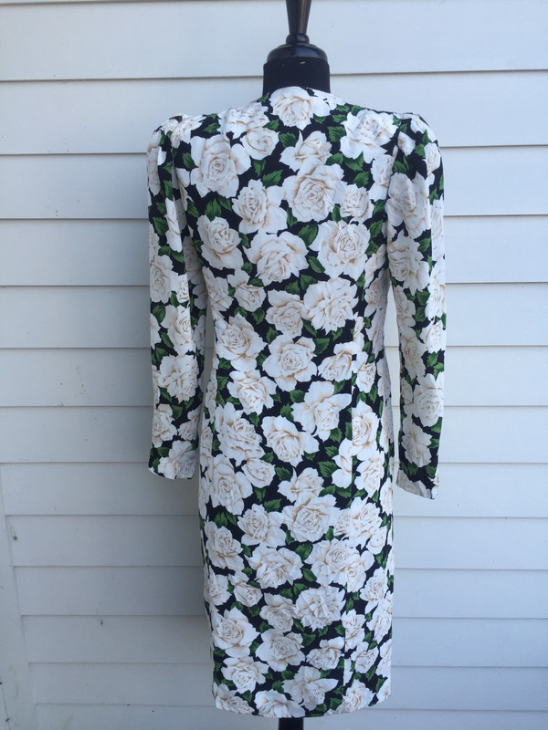 Fujin plaxa couture japanese floral 80's wrap dress