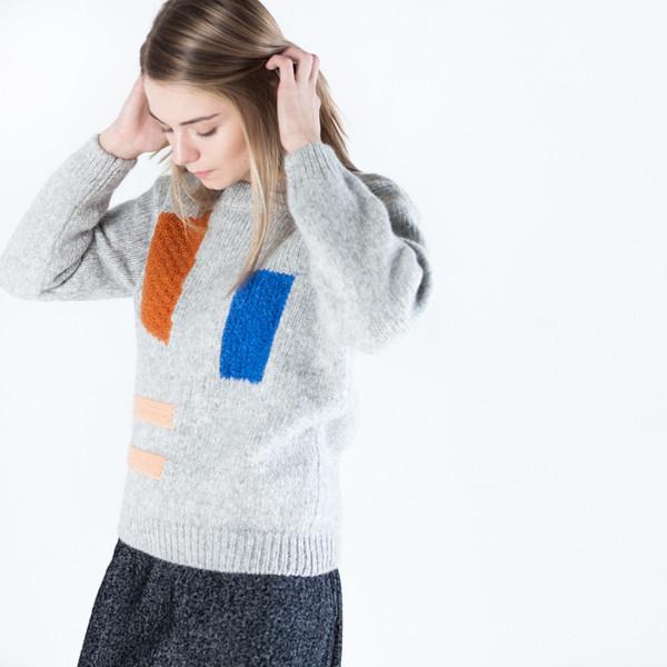 Nanushka Rama Geometric Sweater