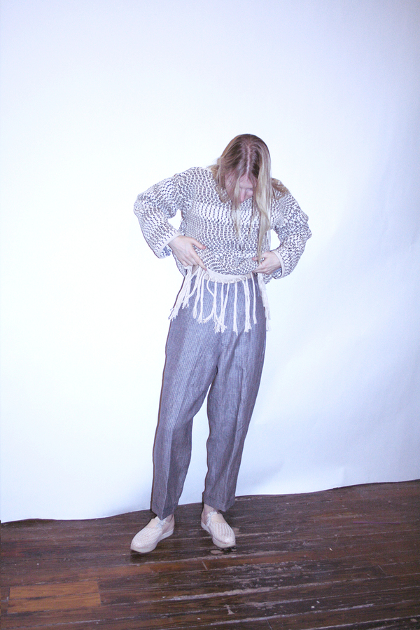 LINEN HOLLYWOOD PANT