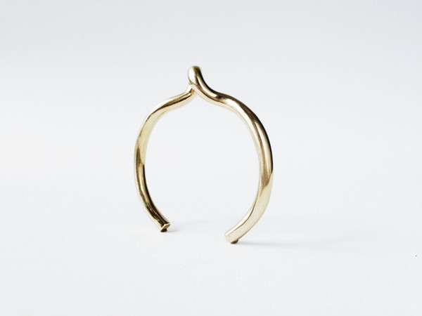 The Things We Keep Brass Duchamp Cuff