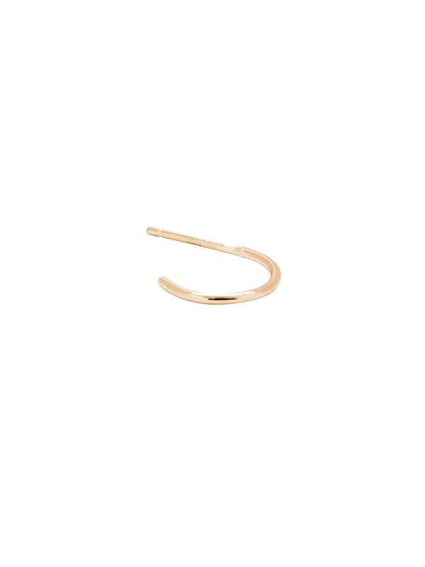 In God We Trust 14k Gold Hoop Stud Earring